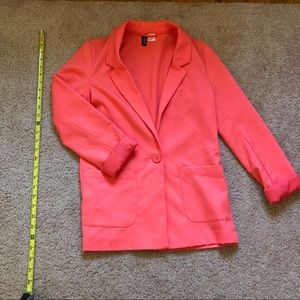 H&M salmon/pink/orange blazer!